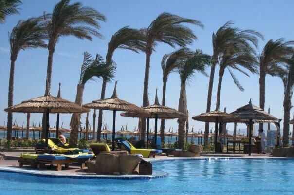пальмы у бассейна